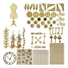 Mannequin Steampunk Kit Laser Cut 3mm MDF Industrial Art Picture Card Craft